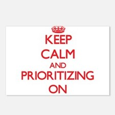 Keep Calm and Prioritizin Postcards (Package of 8)