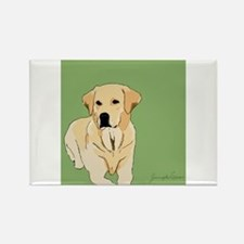 The Artsy Dog Lab Series Rectangle Magnet