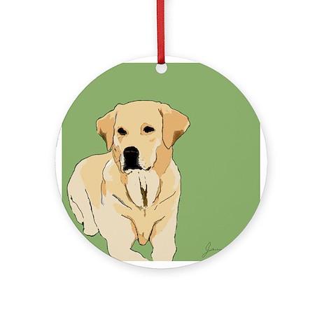 The Artsy Dog Lab Series Ornament (Round)