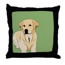 The Artsy Dog Lab Series Throw Pillow