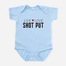 Live Love Shot Put Infant Bodysuit