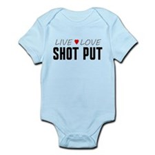Live Love Shot Put Onesie