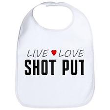 Live Love Shot Put Bib