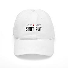 Live Love Shot Put Baseball Baseball Cap