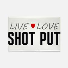 Live Love Shot Put Rectangle Magnet