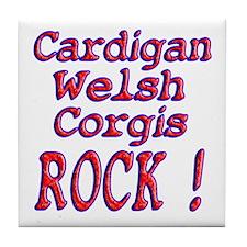 Cardigan Welsh Corgis Tile Coaster