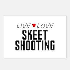 Live Love Skeet Shooting Postcards (Package of 8)