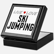 Live Love Ski Jumping Keepsake Box