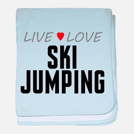 Live Love Ski Jumping Infant Blanket