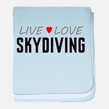 Live Love Skydiving Infant Blanket