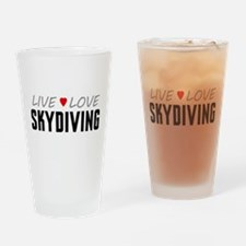 Live Love Skydiving Drinking Glass