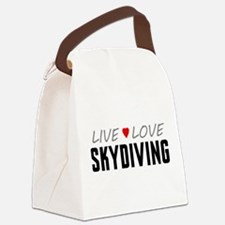 Live Love Skydiving Canvas Lunch Bag