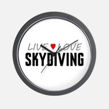 Live Love Skydiving Wall Clock