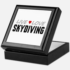 Live Love Skydiving Keepsake Box