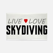Live Love Skydiving Rectangle Magnet