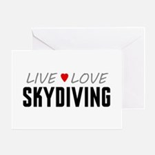 Live Love Skydiving Greeting Card