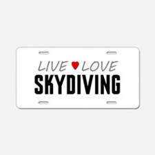 Live Love Skydiving Aluminum License Plate