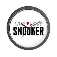 Live Love Snooker Wall Clock