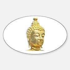 golden head of buddha Decal