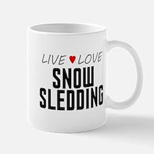 Live Love Snow Sledding Mug