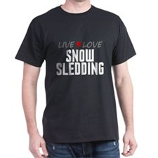 Live Love Snow Sledding T-Shirt