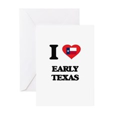 I love Early Texas Greeting Cards