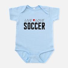 Live Love Soccer Infant Bodysuit