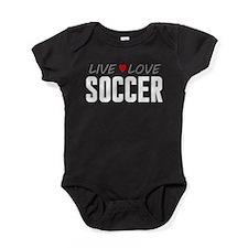 Live Love Soccer Baby Bodysuit