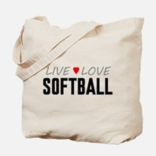 Live Love Softball Tote Bag