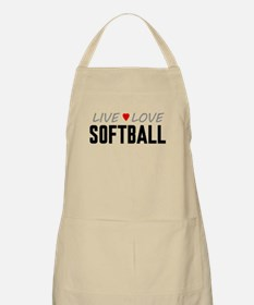 Live Love Softball Apron