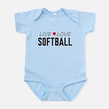 Live Love Softball Infant Bodysuit