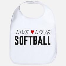 Live Love Softball Bib