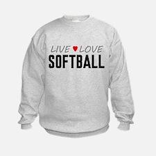 Live Love Softball Sweatshirt