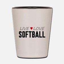 Live Love Softball Shot Glass