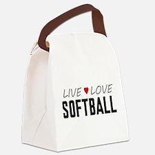 Live Love Softball Canvas Lunch Bag