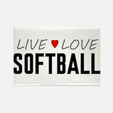 Live Love Softball Rectangle Magnet (100 pack)