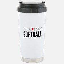Live Love Softball Ceramic Travel Mug