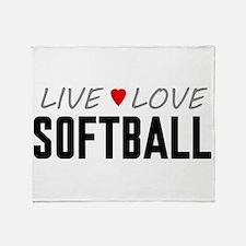 Live Love Softball Stadium Blanket
