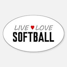 Live Love Softball Oval Decal