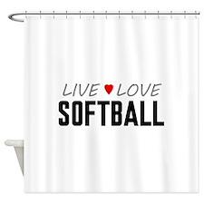 Live Love Softball Shower Curtain