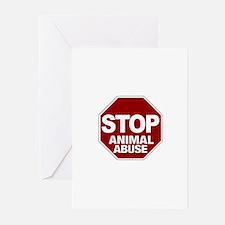 Stop Animal Abuse Greeting Cards (Pk of 10)