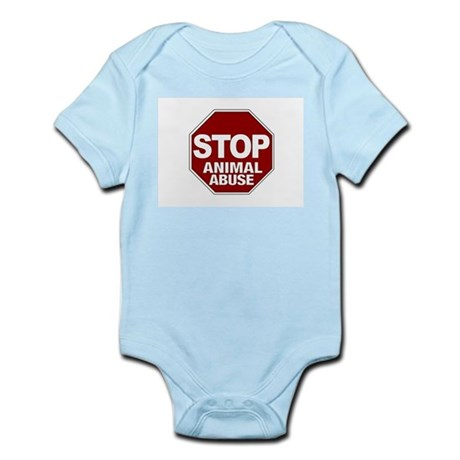 Stop Animal Abuse Infant Bodysuit