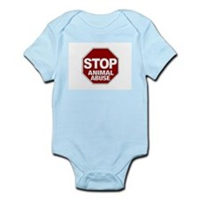 Stop Animal Abuse Infant Bodysuit