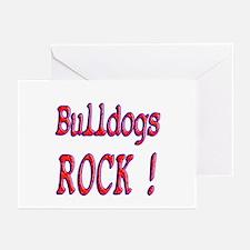 Bulldogs Rock ! Greeting Cards (Pk of 10)