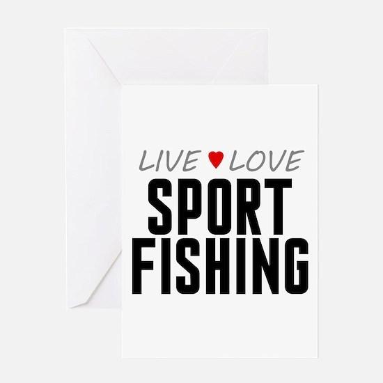 Live Love Sport Fishing Greeting Card