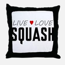 Live Love Squash Throw Pillow