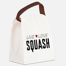 Live Love Squash Canvas Lunch Bag