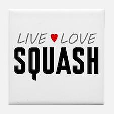 Live Love Squash Tile Coaster