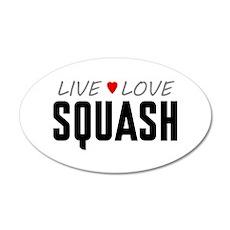Live Love Squash 38.5 x 24.5 Oval Wall Peel