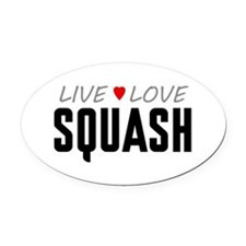 Live Love Squash Oval Car Magnet
